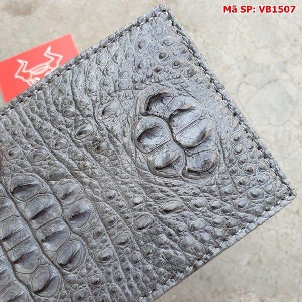 Tuidacasau Bóp Ví Da Cá Sấu Nguyên Con Xám VB1507 (5)