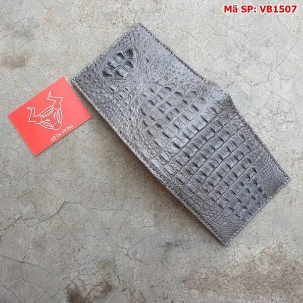 Tuidacasau Bóp Ví Da Cá Sấu Nguyên Con Xám VB1507 (6)
