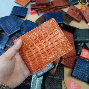 Bóp Da Cá Sấu Nam Gai Lưng VB0701