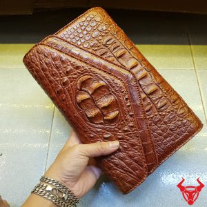 Bóp Da Cá Sấu Nữ 3 Gấp Phong Thư AO4A4