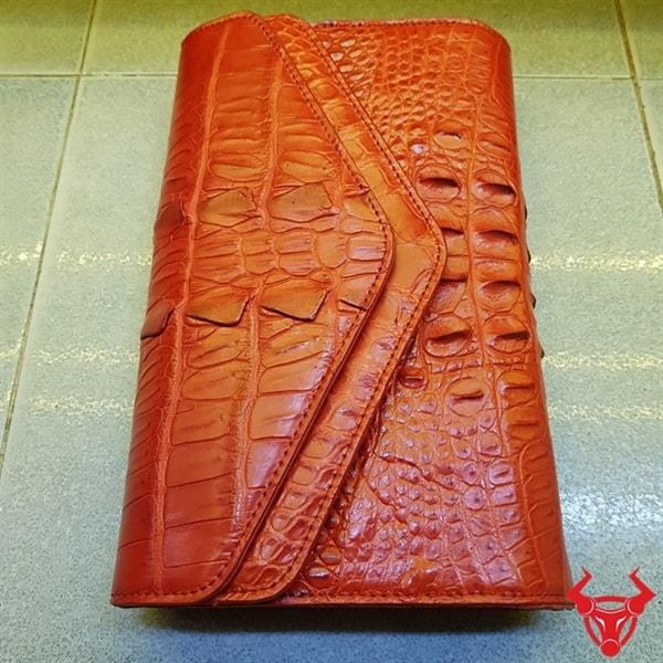 Bóp Nữ Da Cá Sấu Phong Thư AO0802
