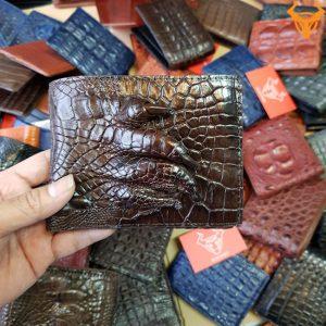 Bóp Ví Da Cá Sấu Bàn Chân VB0206