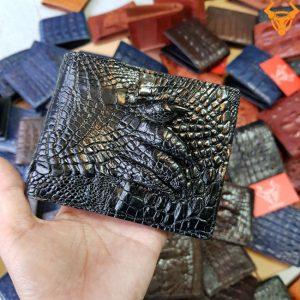 Bóp Ví Da Cá Sấu Bàn Tay Đen VB0106