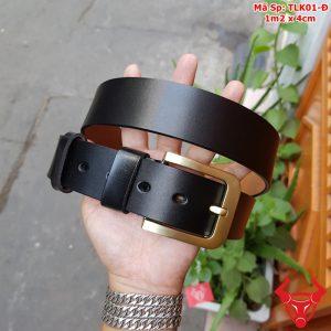 Thắt Lưng Nam Da Bò Khóa Kim TLK01-Đ