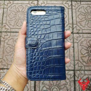 Bao Da Cá Sấu Iphone 7 Plus Navy