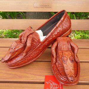 Giày Mọi Da Cá Sấu Nguyên Con GC4A10
