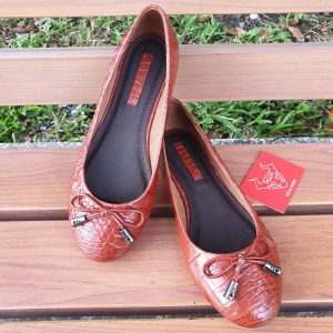 Giày Búp Bê Da Cá Sấu GN040840