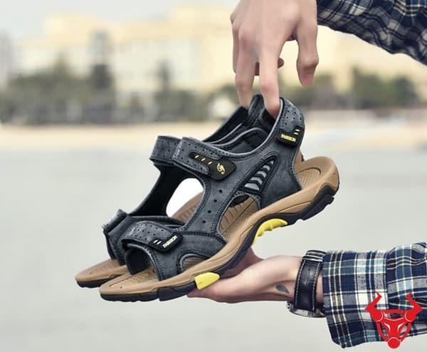 Giày Sandal Nam Da Bò