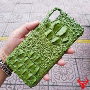 Ốp Lưng Da Cá Sấu Iphone XS Max Gù Xanh Rêu OA14A4