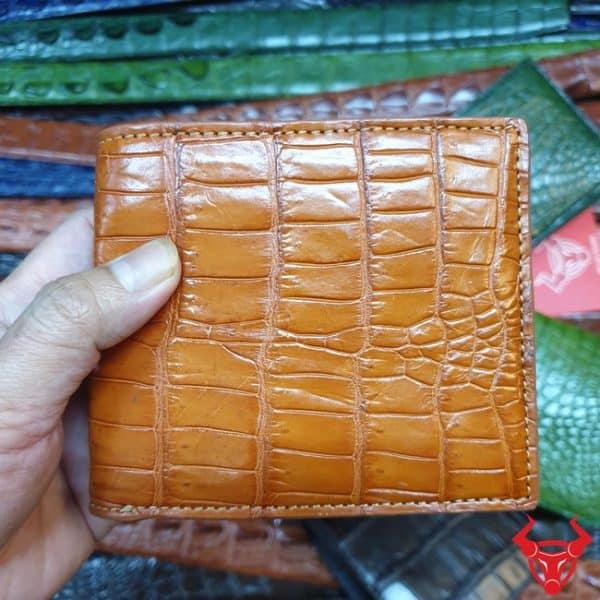 Ví Đựng Tiền Xu Nam Da Cá Sấu VB0708
