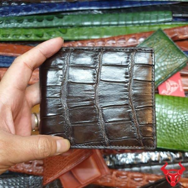 Ví Đựng Xu Da Cá Sấu Nam VB0208