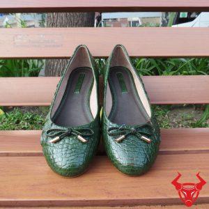 Giày Búp Bê Da Cá Sấu Thật GN11A8