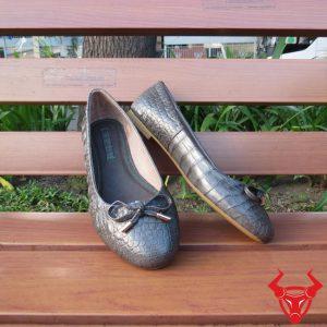 Giày Búp Bê Da Cá Sấu Trơn GN1508