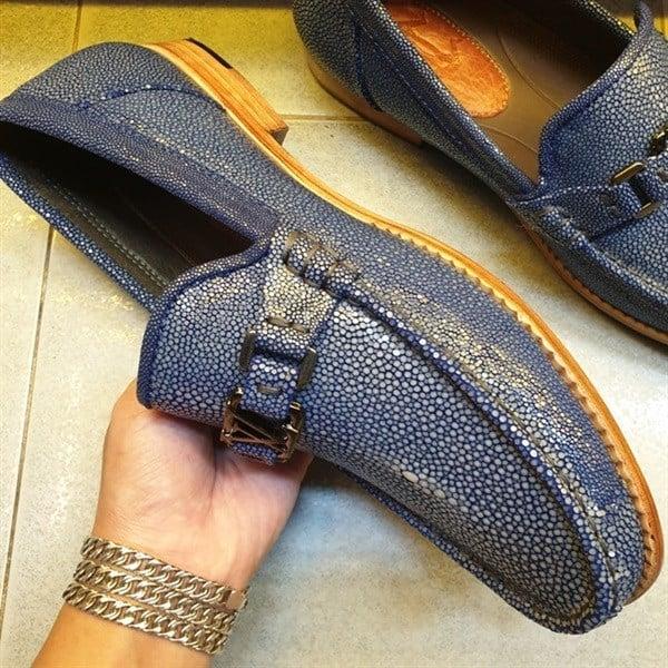 Giày Mọi Nam Da Cá Đuối