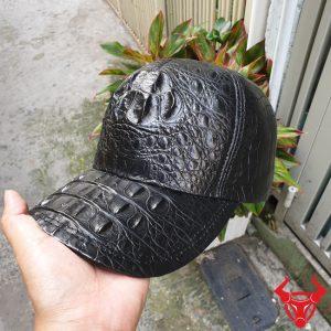 Mũ Da Cá Sấu Nam Gù Đen NO0104