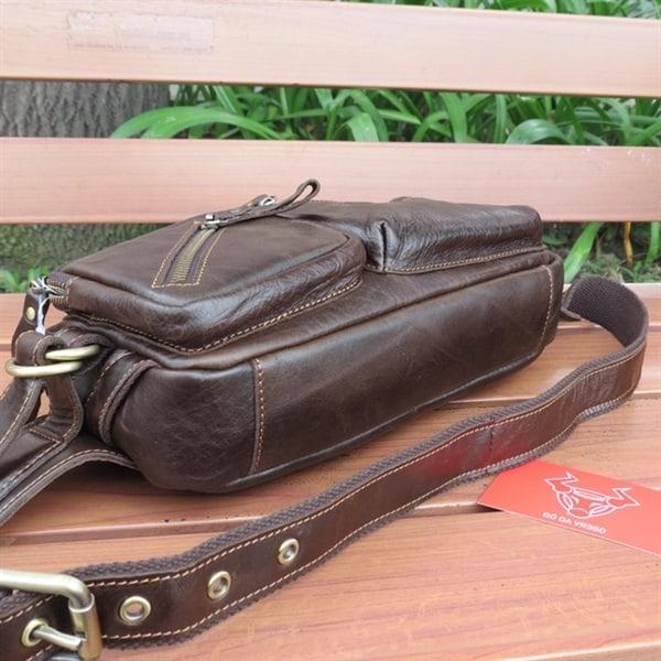 Túi Đeo Trươc Ngực Da Bò Thật CONTACT31