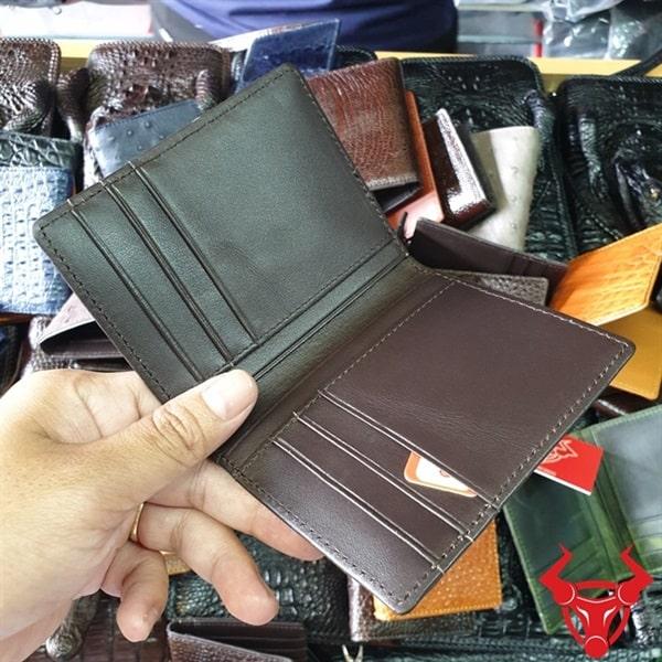 Ví Đựng Thẻ ATM Da Đà Điểu Nâu Đen VS02D2