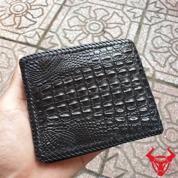 Bóp Da Cá Sấu Đan Viền VD0107