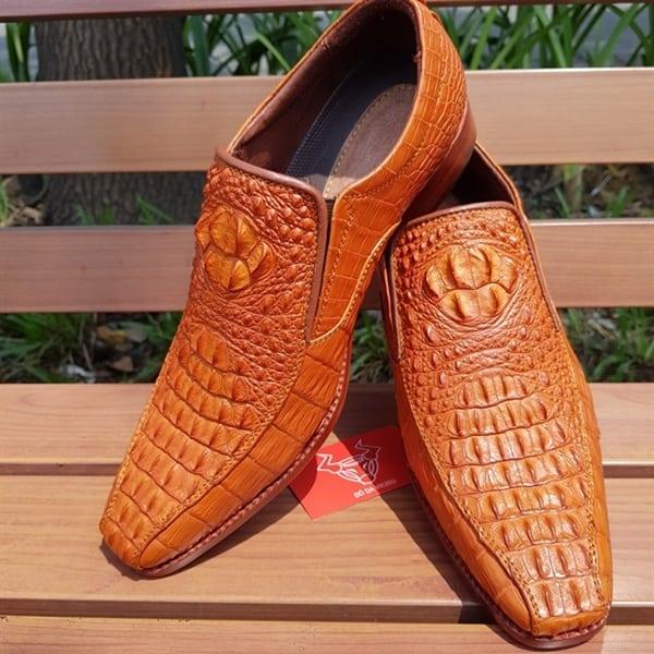 Giày Da Cá Sấu Nam Giá Rẻ GB0604