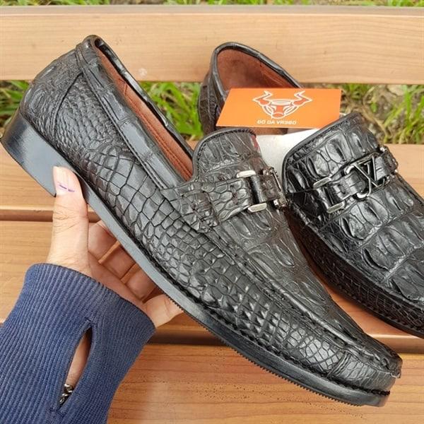 Giày Lười Nam Da Cá Sấu Thật