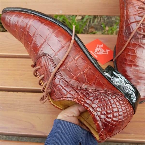 Giày Tây Da Cá Sấu Nam GA0408