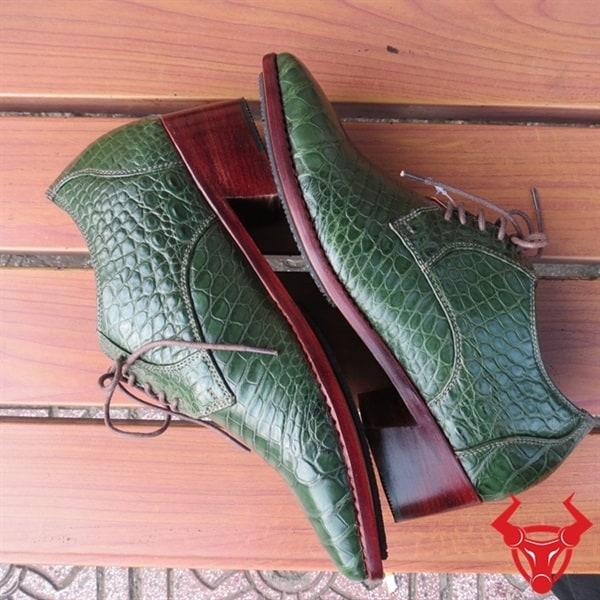 Giày Tây Da Cá Sấu Thật Giá Rẻ GA1108