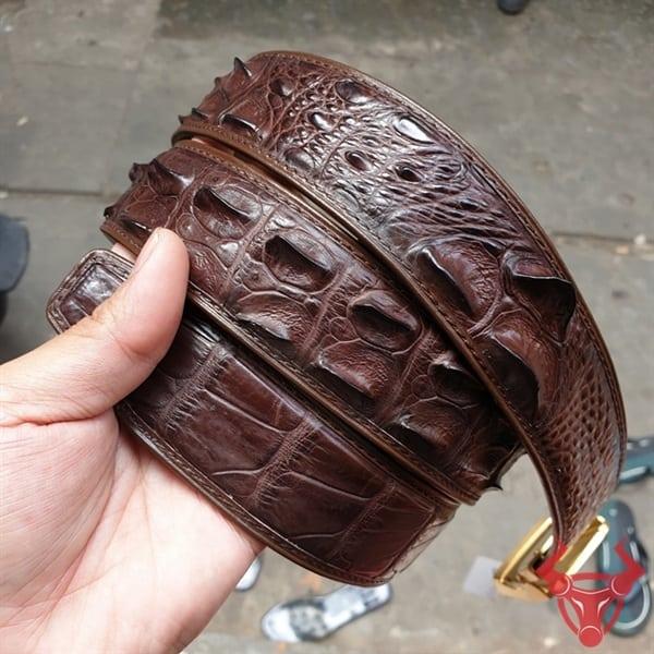 Thắt Lưng Da Cá Sấu Liền Xuất Khẩu TL020409C