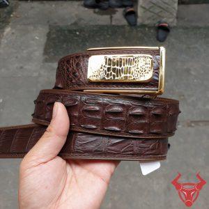 Thắt Lưng Nam Da Cá Sấu Liền Bộc Viền TL2A4B7K50