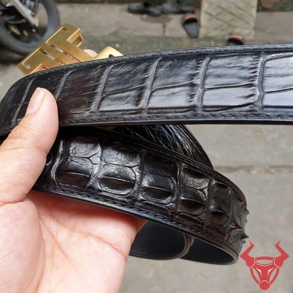 Thắt Lưng Nam Da Cá Sấu Liền TL010409D