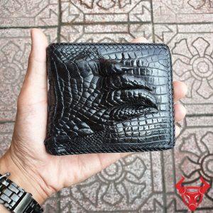 Ví Da Cá Sấu Bàn tay Đan Viền VD0106