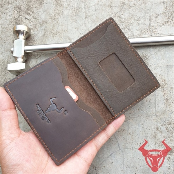 Bóp Nam Đựng Thẻ ATM Da Bò Thật Giá Rẻ NC21-CF
