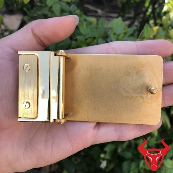 Mặt Dây Nịt Gucci Đồng Vàng ĐKC-35