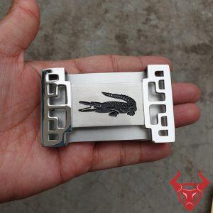 Mặt Thắt Lưng Cá Sấu Inox ĐKC-23