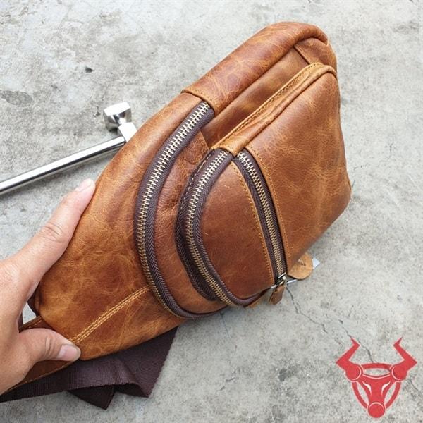 Túi Đeo Chéo Lưng Da Bò Giá Rẻ TDL89-SB