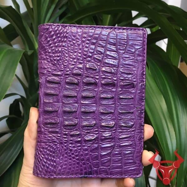 Ví Bao Da Passport Da Cá Sấu VZ1801