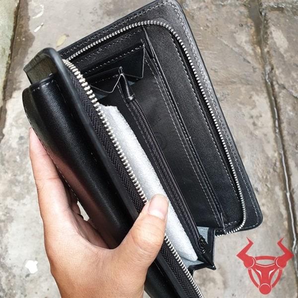 Ví Da Cầm Tay Nam Da Bò Thật VCT22-Đ