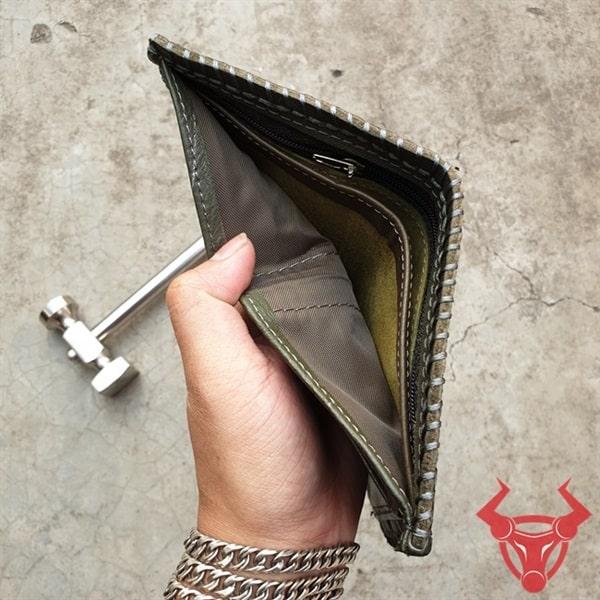 Ví Da Thật Kiểu Đứng Giá Rẻ VDB18-XR