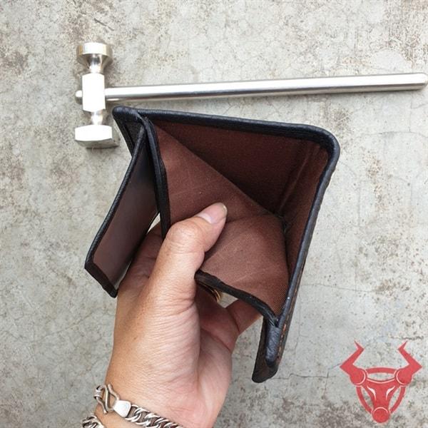 Ví Da Vuông Da Bò Thật Giá Rẻ VDB04-A-Đ