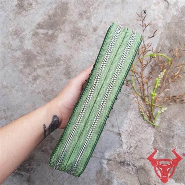 Bóp Cầm Tay Da Cá Sấu 2 Ngăn Kéo BJ1104