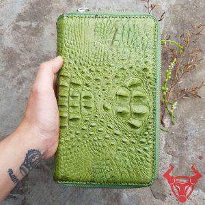 Bóp Da Cá Sấu 2 Ngăn Kéo Cầm Tay BJ14A4