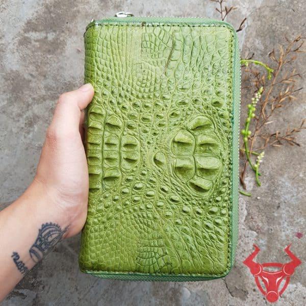 Bóp Da Cá Sấu 2 Ngăn Kéo Cầm Tay BJ1404