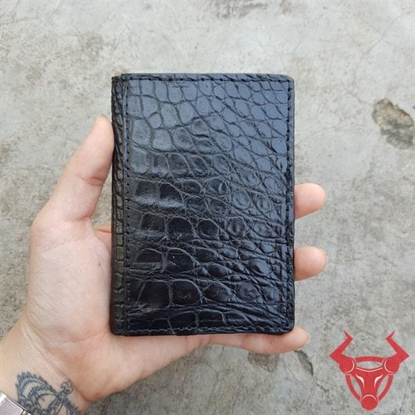 Bóp Đựng Card ATM Da Trơn Cá Sấu VK0108