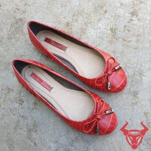 Giày Búp Bê Da Cá Sấu Đẹp GN0808