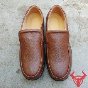 Giày Lười Da Bò Thật Giá Rẻ GM08-N