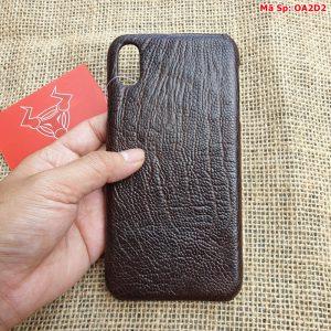 Ốp Lưng Da Đà Điểu Iphone XS Max OA2D2