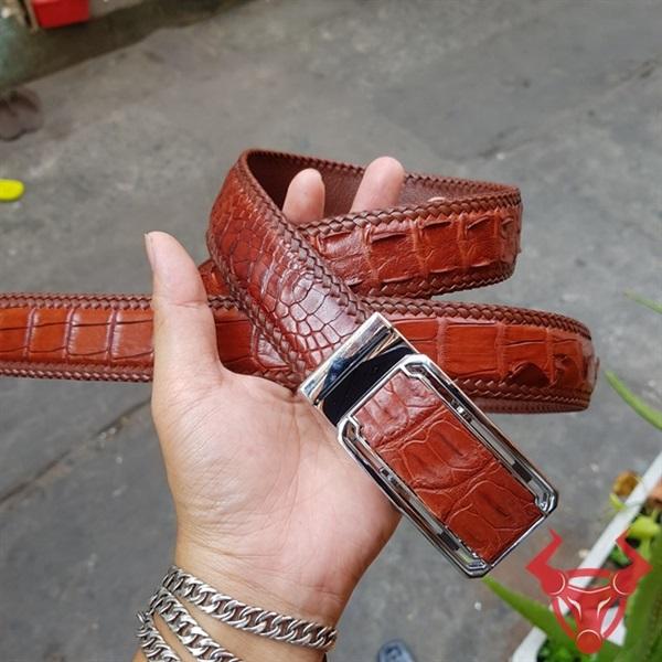 Thắt Lưng Da Cá Sấu Thật Giá Rẻ TM040402