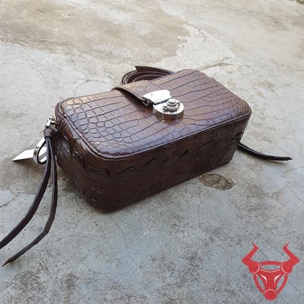 Túi Hộp Nữ Da Cá Sấu Thật TH0208-A