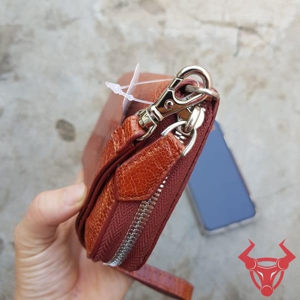 Ví Da Đà Điểu Mini Đẹp BF04D1