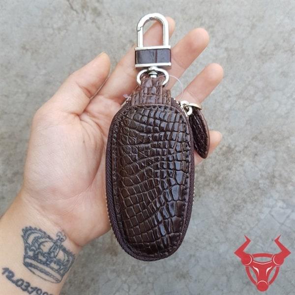 Bao Da Chìa Khóa Ô Tô Da Cá Sấu MK0208