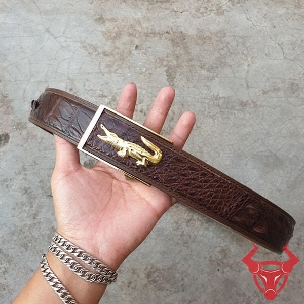 Dây Thắt Lưng Da Cá Sấu Xuất Khẩu TL020408G